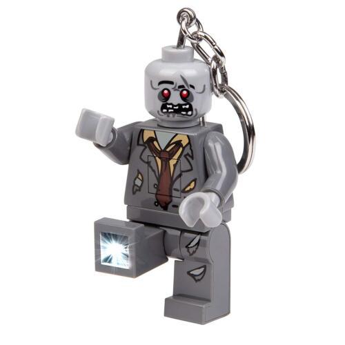 LEGO Zombie Ledlite Portachiavi Torcia Frontale Grande Nuovo di Zecca Regalo UK Venditore