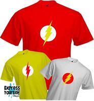 FLASH LIGHTENING - Sheldon Cooper - Big Bang Theory - Quality T Shirt - *NEW*