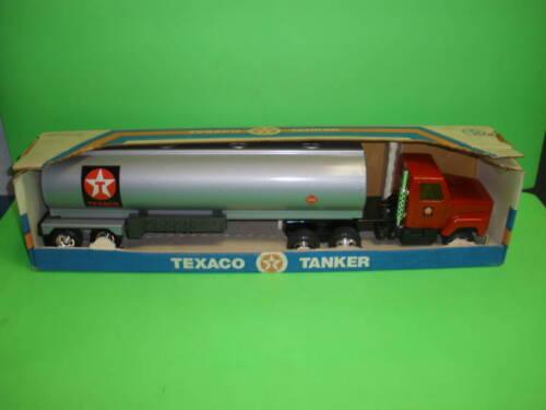 "TEXACO TANKER TRUCK Pressed Steel Black Cab NEW ANTIQUE 1980/'s 1//27th 20/"""