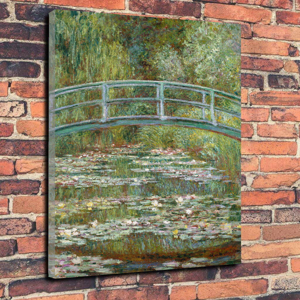 Claude Monet The Water-Lily Pond Printed Canvas Picture Multiple Größes 30mm Deep