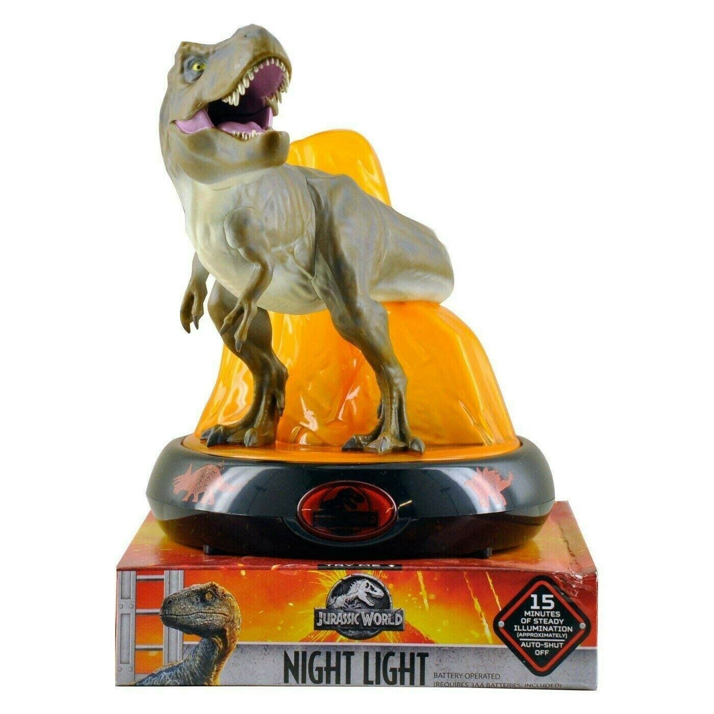Jurassic World Night Light T-Rex  Tyrannosaurus Rex Light Up Volcano  negozio online