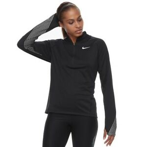 negro fit top peque o Nwt con Flash y media Nike Performance Nuevo Dri cremallera qxvT4nZntz