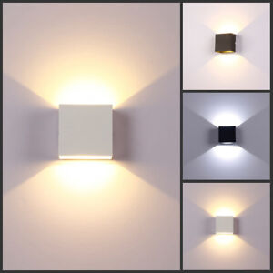 LED-Wall-Light-Up-Down-Cube-Indoor-Outdoor-Sconce-Lighting-Lamp-Fixture-Decor