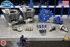 """S&S 4"""" BORE 110"""" POWER PACKAGE W/ CYLINDERS & 585GE HARLEY 96"""" 103"""" TWINS BLACK"""