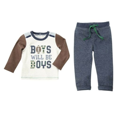 Mud Pie E8 Baby Boys Will Be Boys Pants /& Shirt Two-Piece Choose Size