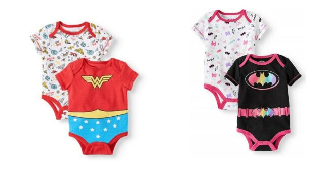 Wonder Woman /& Batgirl Baby Girls Costume Coverall with Cape
