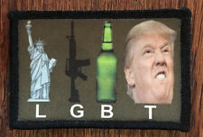 LGBT Donald Trump Morale Patch Funny Tactical ARMY Hook Military USA Badge Flag