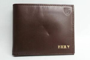 ASPINAL-OF-LONDON-Brown-Leather-8-Card-Slot-Wallet-With-Initials-EHRY-NEW