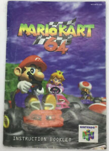Mario-Kart-64-Official-Nintendo-64-N64-Instruction-Booklet-Manual-Only
