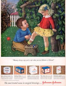 Gladys-Rockmore-Davis-JOHNSON-amp-JOHNSON-BANDAGES-Red-Cross-Tape-1949-MAGAZINE-AD
