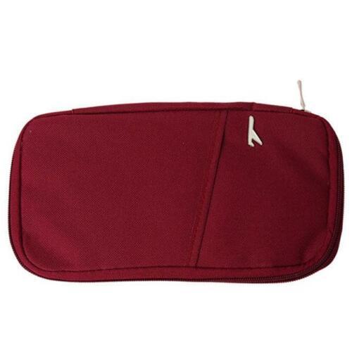 Portable Travel Wallet Card Storage Bag Passport Document Organizer Holder SH