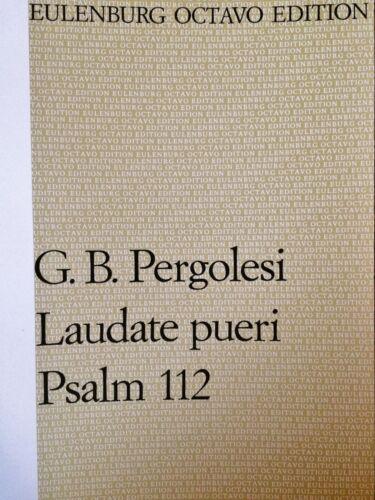 Pergolesi Laudate pueri Psalm 112 G.B