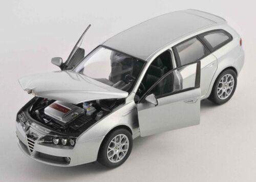 BLITZ VERSAND Alfa 159 Sportwagon silber silver 1:24 Welly Modell Auto NEU OVP