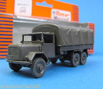 Roco Minitanks H0 246 MAGIRUS-DEUTZ JUPITER LKW P/P Bundeswehr Oliv HO 1:87 OVP