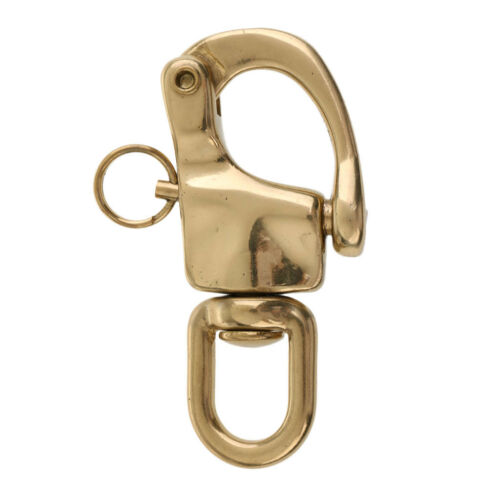 Swivel Eye Snap Shackle Quick Release Bail Rigging Sailing Boat Snaps Brass