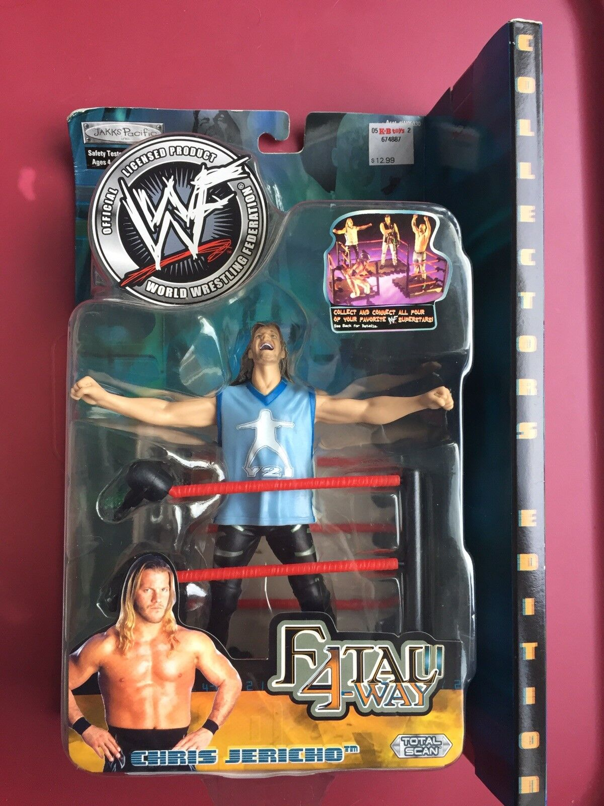 CHRIS JERICHO WWE WWF Jakks Pacific Toy Figure FATAL 4-WAY SERIES 2 NIB NRFB