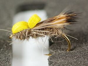 BALLOON-CADDIS-SEDGE-Dry-Trout-Fishing-Flies-various-options-by-Dragonflies