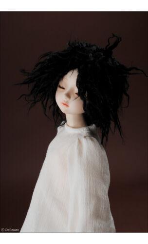 Black DM 1//4 BJD MSD Wig 18-20 cm 7-8 inch Mohair Wave Short style wig