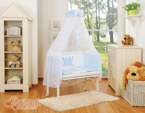 6 teilige Bettwäsche Garnitur Little Prince hellblau mit Moskitonetz Bettwäsche