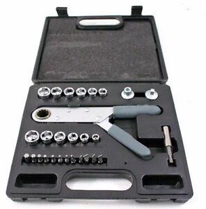 29-Pc-Power-Wrench-Set-Socket-Hand-Ratchet-Tool-Kit-BIN
