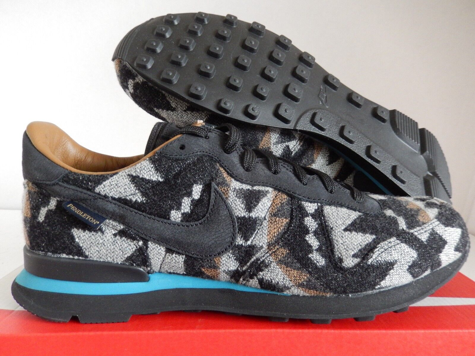 NIKE INTERNATIONALIST PND QS PENDLETON BLACK-STRATUS BLUE SZ 10 [828042-004]