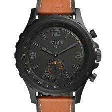 New - Fossil - Q Gen 2 Nate Hybrid Smartwatch 50mm Stainless Steel - Black