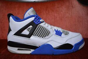 e91841850f0a9 Nike Air Jordan 4 Retro Motorsport White Black Blue 308497-117 Mens ...