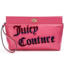 NWT Juicy Couture Flocked Clutch Designer Purse Tote Wristlet Wallet Bag  -