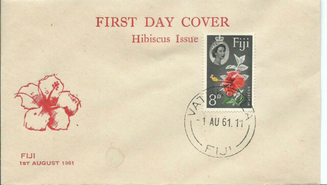 1961 FDC Hibiscus Issue 8d  FDI 1st August 1961 Unaddressed