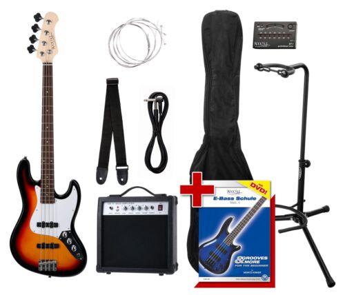 JB E-Bass Komplett Set Verstärker Kabel Stimmgerät Gigbag Schule Stand