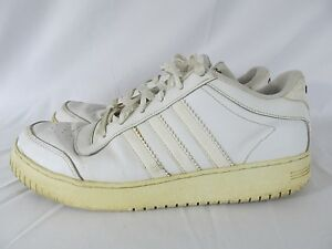 Adidas Super Cup Low Athletic Shoes Men 's Size 10.5 All White (041290) 3 Stripe