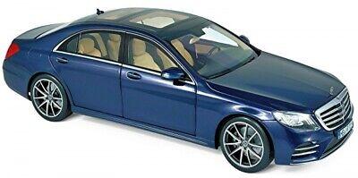 Mercedes-Benz S-Klasse W222 AMG-Line Limousine blau blue metallic 1:18 Norev
