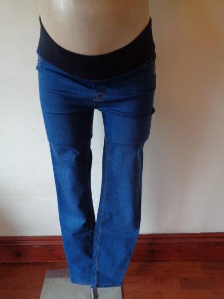 Iniziativa Nuovo Blu In Maternità Look Bump Jeggings Skinny Jeans Taglia 8 Nuovo