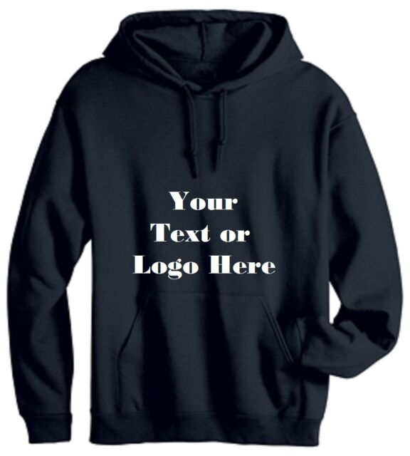 CUSTOM PERSONALIZED DESIGN YOUR OWN HOODIE SWEATSHIRT Cotton Blend, Long Sleeve