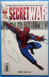 SECRET-WAR-Nr-1-Marvel-Panini-Comics-Spider-Man-deutsch-NEU-Huelle-amp-Board