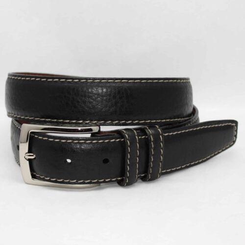 Black 55050 Torino Men/'s Genuine American Bison Leather Belt