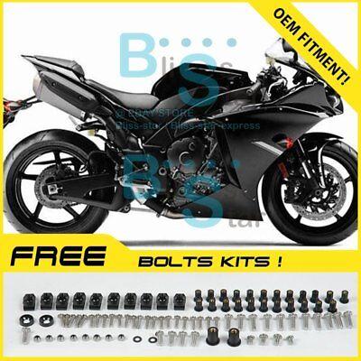 Black INJECTION Fairing Plastic Kit Set Fit Yamaha YZF-R1 2012-2014 15 WW |  eBay