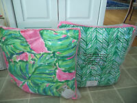 Lilly Pulitzer Reversible Decorative Pillow Painted Palm