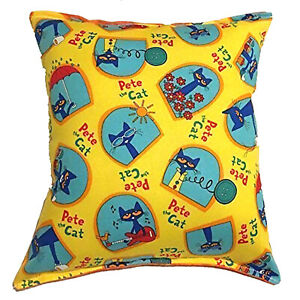 Pete-The-Cat-Pillow-Story-Book-Cat-HANDMADE-In-USA-Pillow