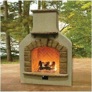 Designer Outdoor Fireplace Propane Natural Gas Crystal Fire Log Set Ebay