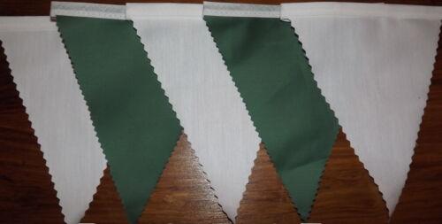 Vert /& Blanc Tissu Bunting Mariage Fête D/'Anniversaire Décoration 2 MT ou plus
