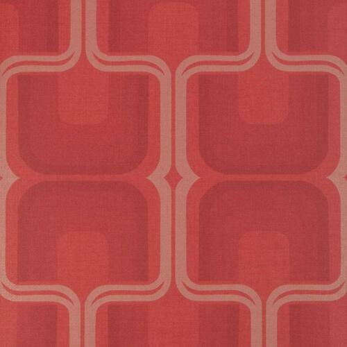 Harlequin à Motifs Rétro papier peint bronze rouge métallique texturé géométrique