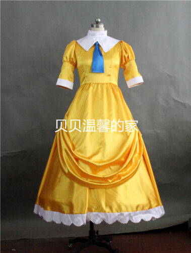 Tarzan Jane Porter Adult Costume Yellow Dress Cosplay Ball Gown