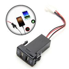 Universal Dual 2-port USB Car Charger In Car Socket Adapter 12V for Toyota VIGO