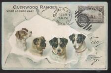 Postcard ATTLEBORO Mass/MA  Early 1900's Glenwood Furniture/Stove Store Promo Ad