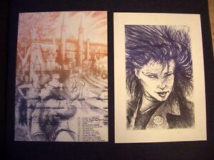 2x-Lithografie-S-O-36-PUNK-GIRL-KUNSTLERHAUS-BETHANIEN-berlin-kreuzberg-1980