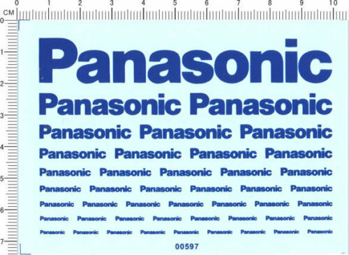 00597 decals Panasonic for different scales blue