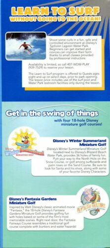 2013 Disney/'s Water Parks Guide /& Two Park Maps Taking The Plunge Summit Plummet