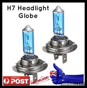 1-Pair-12V-H7-100W-White-5000k-Halogen-Car-Head-Light-Lamp-Globes-Bulbs-AU