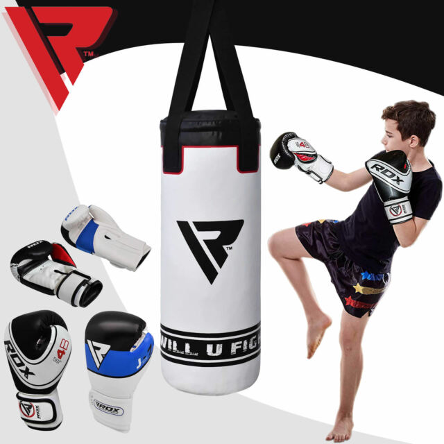 kids Junior 2ft Punch Bag,Kids Head Guard,Kick Boxing Mitt Gloves Pad,Gym Train